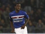 Pedro Obiang of UC Sampdoria in action during the Serie A match between UC Sampdoria and Calcio Catania at Stadio Luigi Ferraris on May 8, 2013