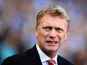 Manchester United manager David Moyes prior to kick-off against Manchester City on September 22, 2013