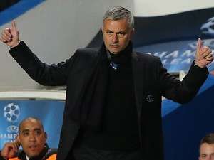 Chelsea manager Jose Mourinho on the touchline against Basel during the Champions League group match on September 18, 2013