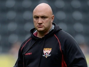 Huddersfield Giant coach Paul Anderson before a game with Hull FC on July 1, 2012