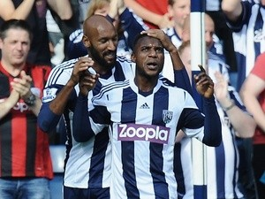 West Brom's Stephane Sessegnon celebrates a goal against former club Sunderland on September 21, 2013
