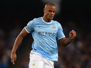 Manchester City's Vincent Kompany in action against Newcastle during their Premier League match on August 19, 2013