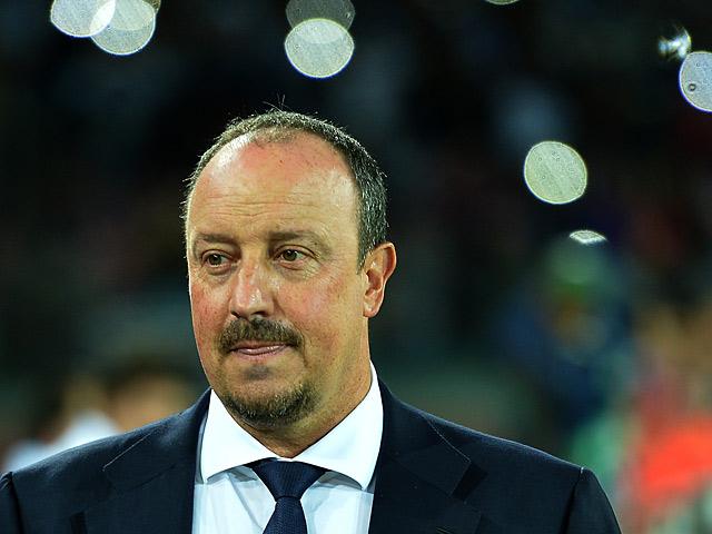 Napoli coach Rafael Benitez prior to kick-off during the Champions League match against Borussia Dortmund on September 18, 2013