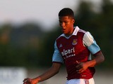 Jordan Spence of West Ham United during the pre season friendly match between Boreham Wood FC and West Ham United at Meadow Park on July 10, 2013