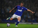 Ipswich's Luke Chambers in action against Derby on October 23, 2012