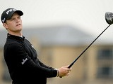 Tom Lewis in action during day two of the Alfred Dunhill Links Championship on September 27, 2013