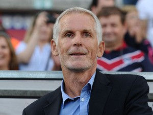 Bordeaux' head coach Francis Gillot looks on during the French L1 football match between Bordeaux (FCGB) and Bastia (SC) on August 24, 2013