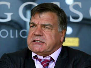 Sam Allardyce the West Ham manager looks on during the Barclays Premier League match between Hull City and West Ham United at KC Stadium on September 28, 2013