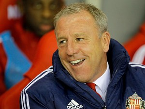 Sunderland caretaker manager Kevin Ball prior to kick-off in his team's League Cup match against Peterborough on September 24, 2013