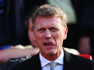 Manchester United manager David Moyes looks on during the Barclays Premier League match between Manchester United and West Bromwich Albion at Old Trafford on September 28, 2013