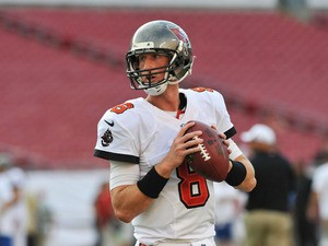 Quarterback Mike Glennon #8 of the Tampa Bay Buccaneers warms up for play against the Washington Redskins August 29, 2013