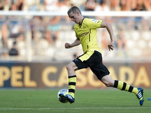 Dortmund's midfielder Sven Bender controls the ball during a friendly football match againt FC Basel on July 10, 2013