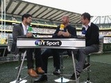 BT Sport's punditry team before an Aviva Premiership game on September 7, 2013