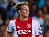 Ajax's Christian Poulsen in action against Barcelona on September 18, 2013