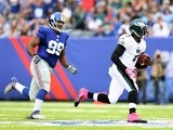 Eagles QB Michael Vick rushes against the New York Giants during their game on October 6, 2013