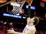 Houston Rockets' Omer Asik in action against Oklahoma City Thunder on April 29, 2013