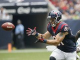 Owen Daniels #81 of the Houston Texans makes a catch on September 29, 2013