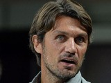 Paolo Maldini attends the Serie A match between AC Milan and Cagliari Calcio at San Siro Stadium on September 1, 2013