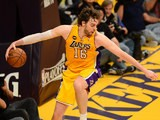 Los Angeles Lakers' Pau Gasol in action against San Antonio Spurs on April 26, 2013