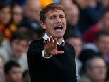 Bradford boss Phil Parkinson on the touchline against Brentford on September 7, 2013