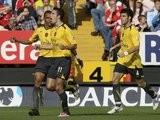 Robin van Persie celebrates scoring for Arsenal against Charlton Athletic in September 2006.
