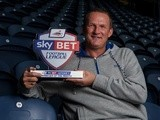 UNDER EMBARGO UNTIL 6AM 4/10/13: Preston boss Simon Grayson with his September Manager of the Month award on October 3, 2013