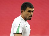 Bulgaria's Valeri Bojinov attends a training session at Wembley Stadium, in west London, on September 2, 2010