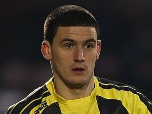 Anthony O'Connor in action for Burton on January 19, 2013