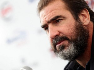 Former footballer Eric Cantona attends a press conference announcing the Golden Foot laureates for 2012 at Grimaldi Forum on October 17, 2012