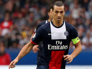 Paris Saint-Germain's Zlatan Ibrahimovic in action against Toulouse on September 28, 2013