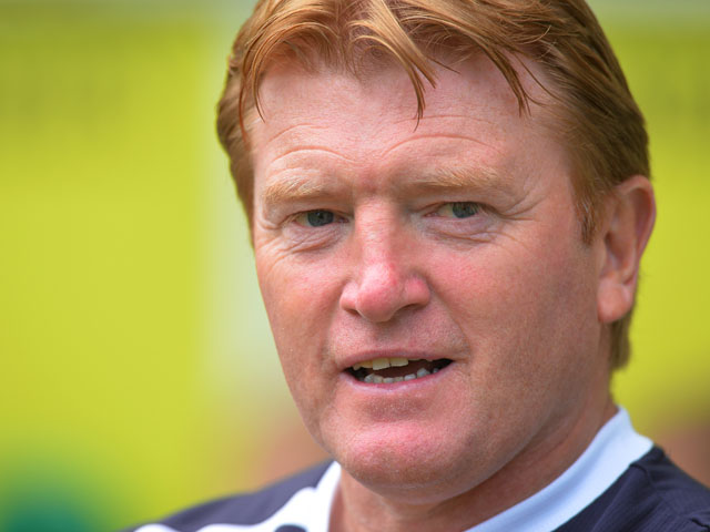 Motherwell manager Stuart McCall on the touch line during the Scottish Premiership League match between Hibernian and Motherwell at Easter Road on August 04, 2013