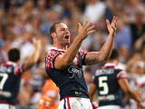 Boyd Cordner fo the Roosters celebrates victory during the 2013 NRL Grand Final match between the Sydney Roosters and the Manly Warringah Sea Eagles at ANZ Stadium on October 6, 2013