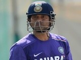 Sachin Tendulkar of India during a nets session at Sardar Patel Stadium on November 14, 2012