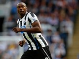 Shola Ameobi of Newcastle in action during the Premier League match between Newcastle United and Fulham at the St James Park on August 31, 2013
