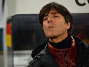 German head coach Joachim Loew attends the FIFA 2014 World Cup Group C qualifying football match Germany vs Republic of Ireland in Cologne, western Germany on October 11, 2013