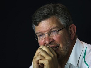 Mercedes GP Team Principal Ross Brawn attends the official press conference following practice for the Italian Formula One Grand Prix at Autodromo di Monza on September 6, 2013