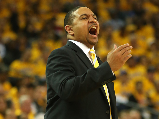 Golden State Warriors head coach Mark Jackson on the sidelines during his team's game against San Antonio Spurs on May 16, 2013