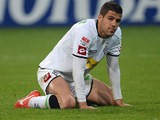 Borussia Moenchengladbach's Alvaro Dominguez in action against Schalke on May 3, 2013