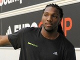 Kenneth Faried poses for photographers during adidas Eurocamp day two at La Ghirada sports center on June 9, 2013