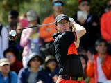 Rory McIlroy of Northern Ireland plays a shot during the final round of the 56th Kolon Korea Open 2013 at the Woo Jeong Hills Country Club on October 20, 2013