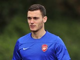 Arsenal's Belgian defender Thomas Vermaelen attends a team training session for the forthcoming UEFA Champions League Group F football match against SSC Napoli at Arsenal's London Colney training ground in north London on September 30, 2013