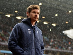 Manager Andre Villas Boas of Spurs looks on during the Barclays Premier League match between Aston Villa and Tottenham Hotspur at Villa Park on October 20, 2013