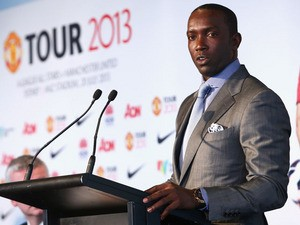 Dwight Yorke speaks to the media during a press conference at Museum of Contemporary Art on December 10, 2012