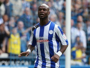 Leroy Lita of Sheffield Wednesday in action during the npower Championship match between Sheffield Wednesday and Middlesbrough at Hillsborough on May 4, 2013