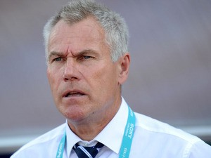 England's head coach Peter Taylor attends the FIFA Under 20 World Cup football match Chili vs England, on June 26, 2013