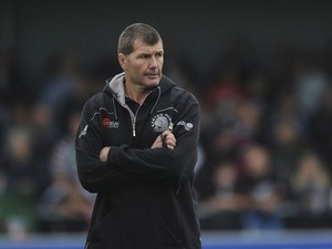 The Exeter Chiefs head coach Rob Baxter before the Aviva Premiership match between Exeter Chiefs and Leicester Tigers at Sandy Park on September 29, 2013