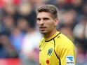 Goalkeeper Ron-Robert Zieler of Hannover looks on during the Bundesliga match between Hannover 96 and 1. FSV Mainz 05 at HDI Arena on August 31, 2013