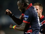 Bordeaux' Senegalese defender Ludovic Lamine Sane celebrates after scoring during the UEFA Europa League group F football match between Bordeaux and APOEL Nicosia at the Chaban Delmas Stadium in Bordeaux on October 24, 2013