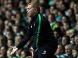 Celtic's Northern Irish manager Neil Lennon reacts during the UEFA Champions League Group H football match between Celtic and Ajax at Celtic Park in Glasgow, Scotland, on October 22, 2013
