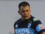 Captain Matthew Rees during the pre-season friendly match between Cardiff Blues and Sale Sharks on August 22, 2013